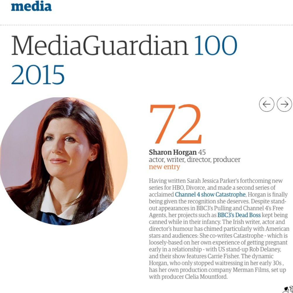 Sharon Horgan Guardian 100 Influential People